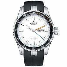 Edox 88002 3ORCA ABUN Men's Grand Ocean Silver-White Automatic Watch