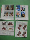US Stamps Collections Unused Plate Block Lot Vintage Christmas 1992-1994