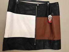 $99 INC International Concepts Plus Size 24W Faux Leather Colorblocked Skirt
