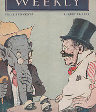 8/28/1915 Full Issue Harpers Weekly GREAT Teddy Roosevelt Cover WILSON Mexico CF