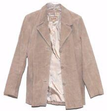 WILSONS LEATHER  Brown Suede Lined Button Jacket Coat Ladies Women's Sz L