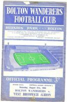 Bolton Wanderers v West Bromwich Albion 1963/4