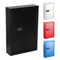 AdirOffice Steel Wall Mount Auto 40 Key Combination Lock Secure Storage Cabinet