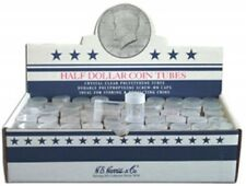 Clear Round Half Dollar Coin Tubes by HE Harris QTY-10