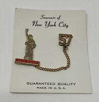Vintage New York Statue of Liberty Souvenir Pin 1957 USA Made
