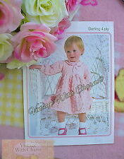Vintage Knitting Pattern Baby Girls Beautiful Special Occasion Dress. JUST £2.69