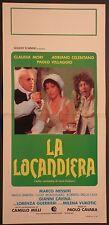 Locandina LA LOCANDIERA 1980 CELENTANO MORI VILLAGGIO VUKOTIC MESSERI CAVINA