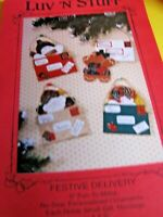 No Sew personalized Ornaments Luv N Stuff festive delivery craft booklet New