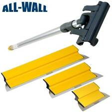 """TapeTech Drywall Finish Smoothing Blade Set: 10-14-24"""" Knives + Extension Handle"""