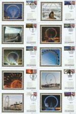More details for 10 aug 2010 london eye all 10 benham small silk bssp 469 / 478 first day covers