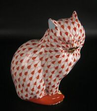 Herend Porzellan Figur / Katze Handbemalt Hungary Porcelain Figurine / Cat