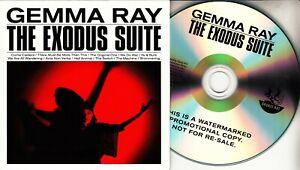 GEMMA RAY The Exodus Suite 2016 UK 12-trk promo test CD