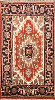 Traditional Geometric Indo Heriz Oriental Hand-knotted Area Rug Home Decor 2'x3'