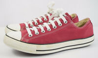 Mens Converse All Star Red Canvas Trainers Sneakers Size UK 9.5