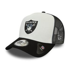 NEW ERA LAS VEGAS RAIDERS TRUCKER CAP.9FORTY BLACK A FRAME TEAM BASEBALL HAT C95