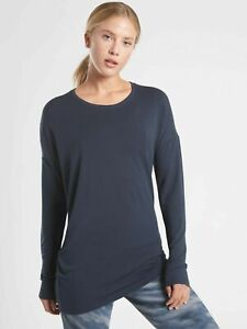 NWT ATHLETA Cloudlight Restore Top - S - SMALL - Navy - $59 Lifestyle