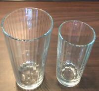 VINTAGE Pasabahce Artisan Drinking GlassTumbler VERTICAL RIDGES Turkey Set of 2