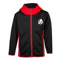 Marvel Avengers Logo Teq Complet Longueur Éclair Capuche Enfants Unisexe 98/104