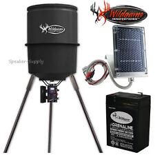 Wildgame Quick Set 225 30 Gallon Game Deer Feeder Battery Solar W225D 6VB SP-6V1