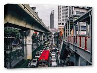 BANGKOK THAILAND CITYSCAPE URBAN FRAMED CANVAS WALL ART PICTURE PRINT