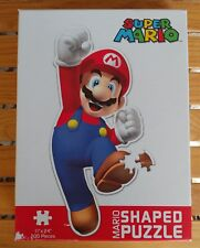"Mario Shaped Puzzle By USAopoly 200 Pieces 100% 11""x 24"""
