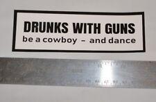 """DRUNKS WITH GUNS vinyl sticker, St Louis punk rock band official merch! 6"""" x 2"""""""