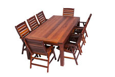 NEW 9 Piece Rectangle Wideboard Dining set in Merbau Outdoor $1500 - $1999