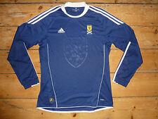 large SCOTLAND football SHIRT  Scottish Soccer Adidas Jersey 2010 Adidas SFA L/S