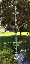 Handmade Healing Stone Brown/Green Suncatcher/Prism W/Swarovski Elements USA
