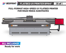 Bp84f Full Format High Speed Uv Flatbed Printer8x4 For Rigid Media Substrate