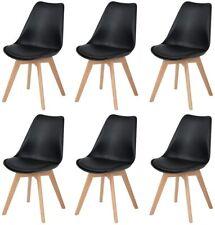 6er Set Esszimmerstühle Skandinavisch Küchenstuhl Stühle Essstühle Schwarz Buche