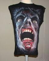 "Spiral Mens Sleeveless T-Shirt  Night Walkers size L Chest 40"" Goth Metal Biker"