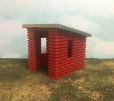 Garden or Storage Shed - Red Brick with Silver Roof - TT Scale 1:120  Easy Build