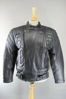 CLASSIC BLACK LEATHER BIKER JACKET 42 INCHES