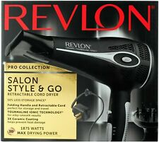 Revlon Pro Collection Salon Style & Go 1875w Hair Dryer W/Retract Cord