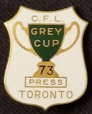1973 - CFL - 61st GREY CUP - MEDIA/PRESS - TORONTO - FOOTBALL - ORIGINAL - PIN