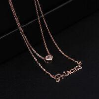 18k Gold Luxus Damen Halskette mit Anhänger Prinzessin Diamant Kette lang 38€