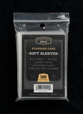 2 Cases - 20,000 Soft Poly Baseball Trading Card CBG Penny Sleeves