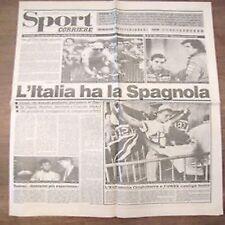 13 6 1988 Corriere della sera sport prima Italia Spagna foglio di giornale vero