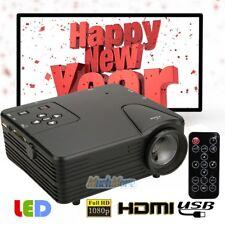 High Brightness 1080P HD LED Projector Home Cinema Multimedia USB TV AV HDMI NEW