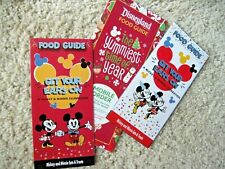 Disneyland park Disney Dca 2019 Food Guide set Mickey Mouse Minnie Christmas map