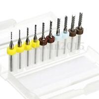 10Pcs PCB Drill Bit Carbide Tools End Mill CNC Cutting Bits Milling Cutters Kit