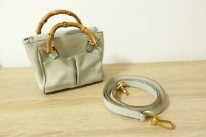 Authentic GUCCI Bamboo Suede 2 way Shoulder Hand Bag  #9088