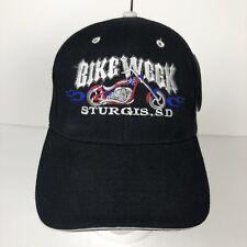 7aa450f8b3b Sturgis SD Bike Week Cap Hat Adjustable Strap Black City Hunter Old Stock  NWT
