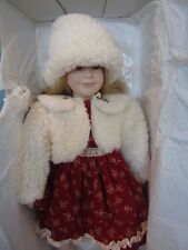 """Designs by Yoko Limited Edition Porcelain Doll 17"""" Winter Doll"""