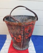 ANTIQUE LEATHER COUNTRY HOUSE FIRE BUCKET