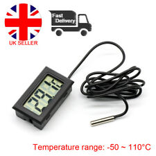 Mini LCD Digital Temperatura Termómetro Medidor Sonda Reino Unido stock para Exterior E Interior