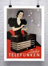 YY1 radio telefunken VINTAGE AD POSTER Germany 1935 24X36 BEAUTIFUL HOT RARE