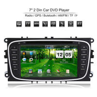 "2 Din 7"" Autoradio DVD Lettore+GPS Bluetooth Ford Mondeo Focus S-Max"