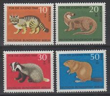 Germany Berlin 1968 ** Mi.316/19 Tiere Animals | Austerben Endangered Animals